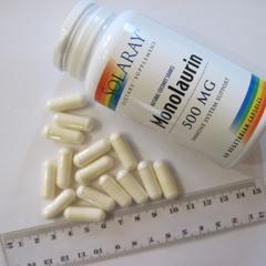 Solaray, Monolaurin, 500 mg, 60 Veggie Caps - iHerb com