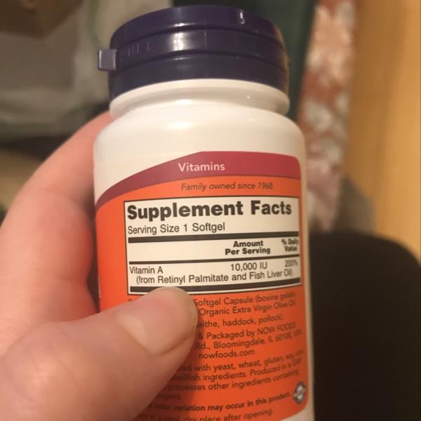 مكمل غذائي فيتامين (أ) بتركيز 10,000 من اي هيرب