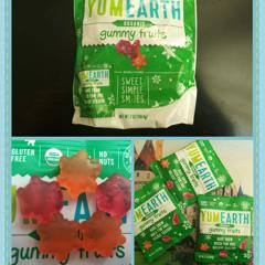 YumEarth, Organic, Gummy Fruits, Perfectly Peach, Very Very Cherry,  Strawberry Smash, 10 Snack Packs, 19 8 g Each