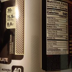 Optimum Nutrition, Platinum Hydro Whey, Cookies & Cream Overdrive, 3.5 lbs (1.59 kg) - customer photo 1